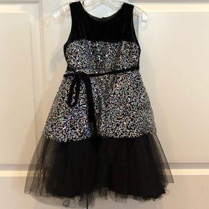 Formal Black/sequin, girl's party dress